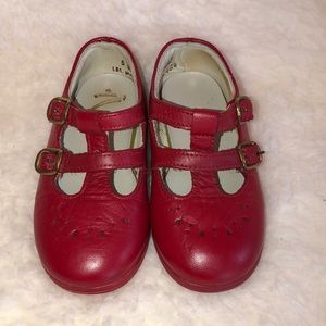 Vintage Red Stride Rite Mary Janes Size 5